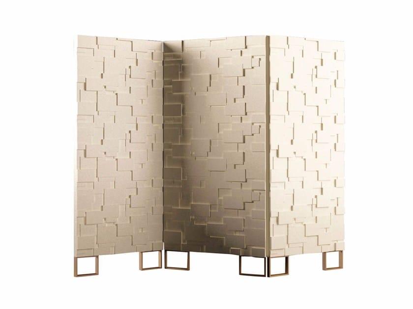 Wooden screen AUREA FOIL by Paolo Castelli