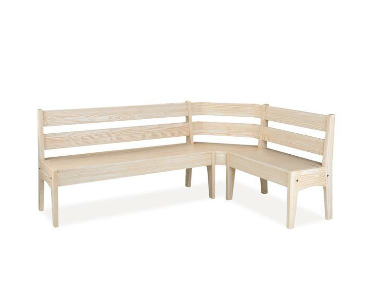 Classic style wooden bench with back AURI - CREO Kitchens by Lube