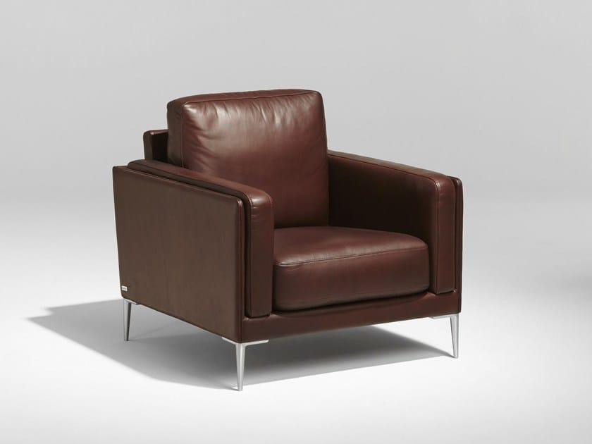 Upholstered leather armchair AUTEUIL | Armchair - Burov