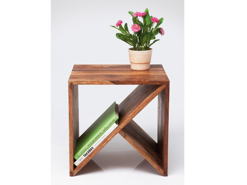 Wooden coffee table AUTHENTICO CUBE ZIGZAG - KARE-DESIGN