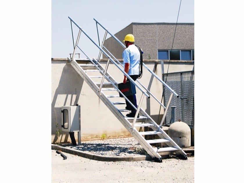 Aluminium Fire escape staircase AV60/14 - Frigerio Carpenterie