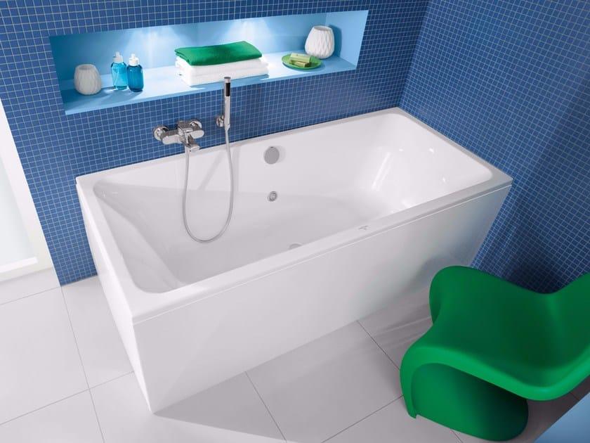 Vasca da bagno rettangolare in ceramica da incasso avento - Villeroy boch bagno ...