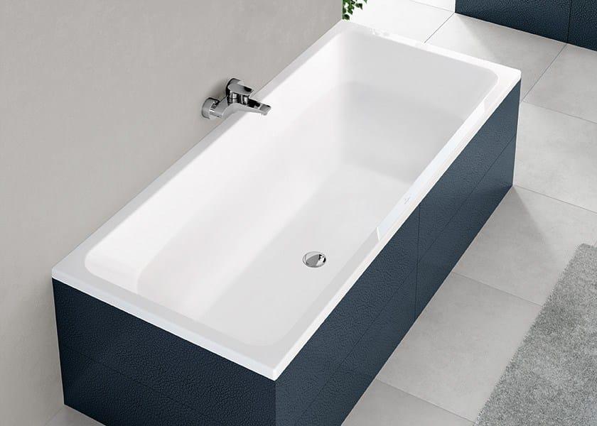 Vasca da bagno rettangolare in ceramica da incasso avento - Vasca da bagno villeroy e boch ...