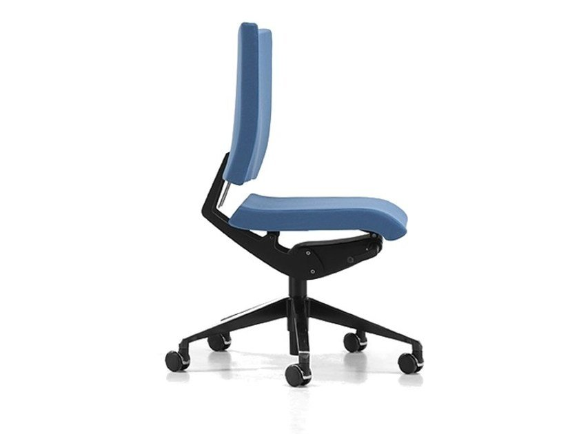 Fabric task chair with 5-Spoke base with casters AVIAMID 3400 - TALIN