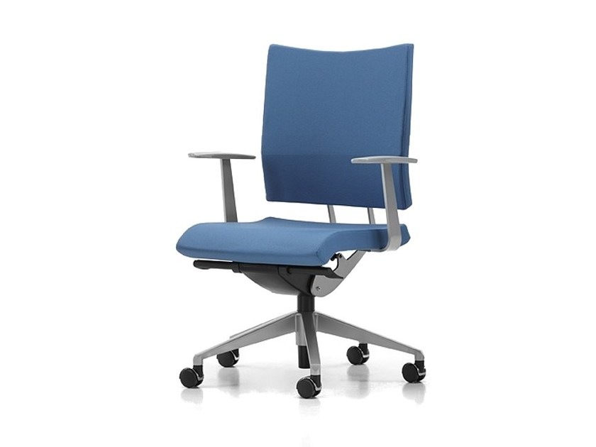 Fabric task chair with 5-Spoke base with armrests with casters AVIAMID 3402 by TALIN