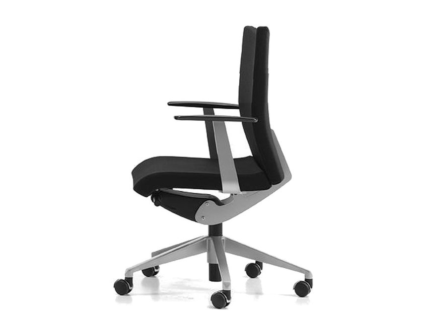 Fabric task chair with 5-Spoke base with armrests with casters AVIAMID 3502 - TALIN