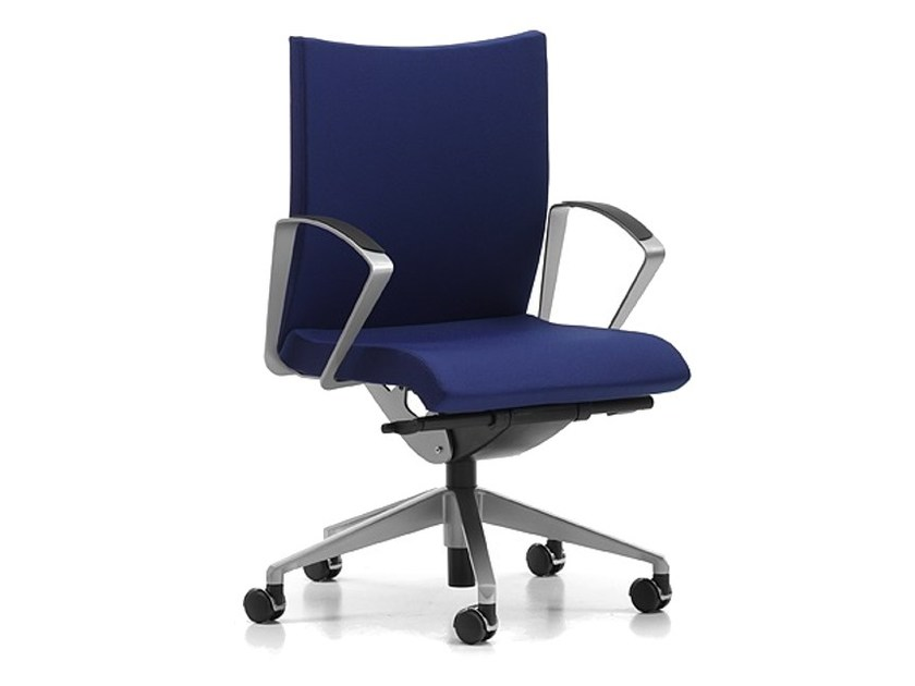 Fabric task chair with 5-Spoke base with armrests with casters AVIAMID 3504 - TALIN