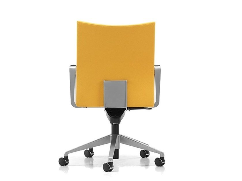 Fabric task chair with 5-Spoke base with casters AVIAMID 3544 by TALIN