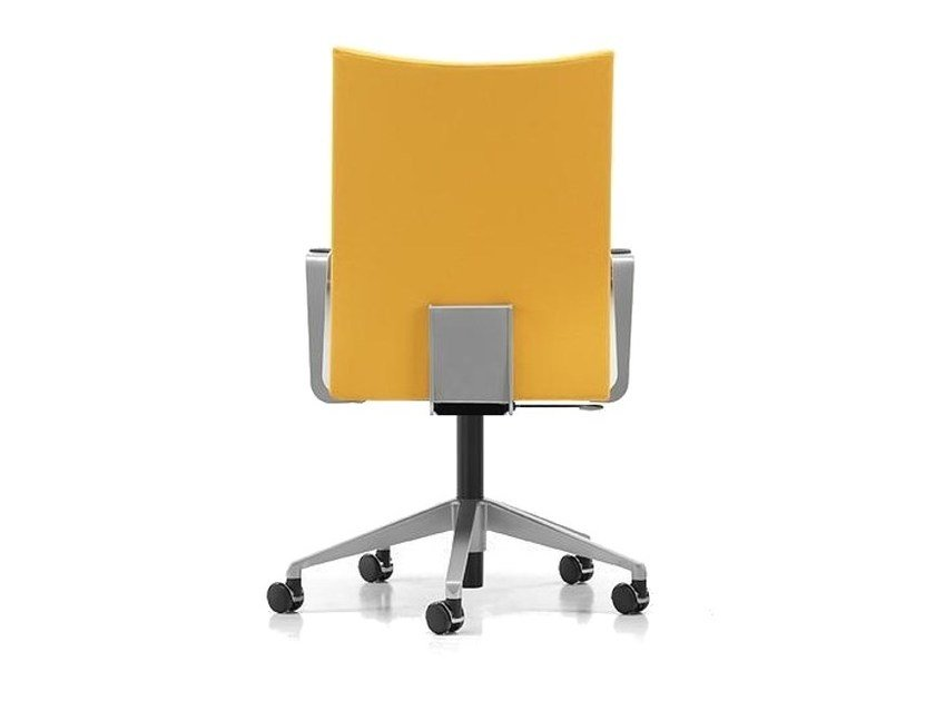 Fabric task chair with 5-Spoke base with armrests with casters AVIAMID 3554 - TALIN