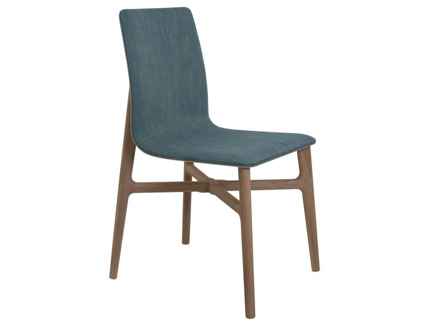 Upholstered wooden chair AXIS | Chair - PERROUIN SIEGES