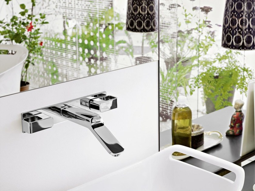3 hole wall-mounted washbasin tap AXOR URQUIOLA - 228 mm by hansgrohe