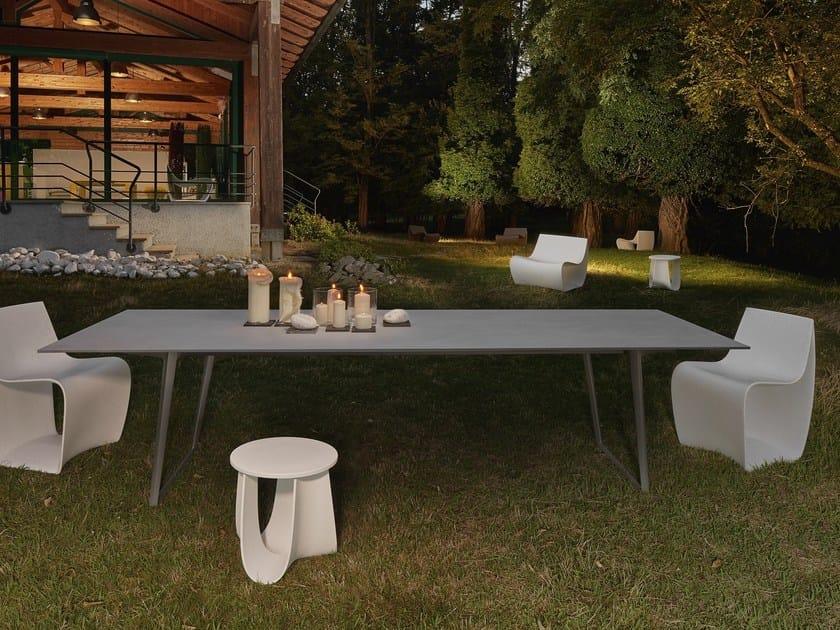 Tavolo da giardino rettangolare in pietra di savoia axy - Tavolo in pietra da giardino ...