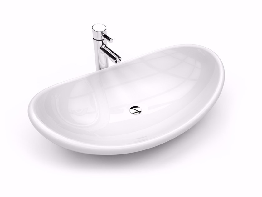 Lavabo da appoggio ovale in Adamantx® AYSUN - ZAD ITALY