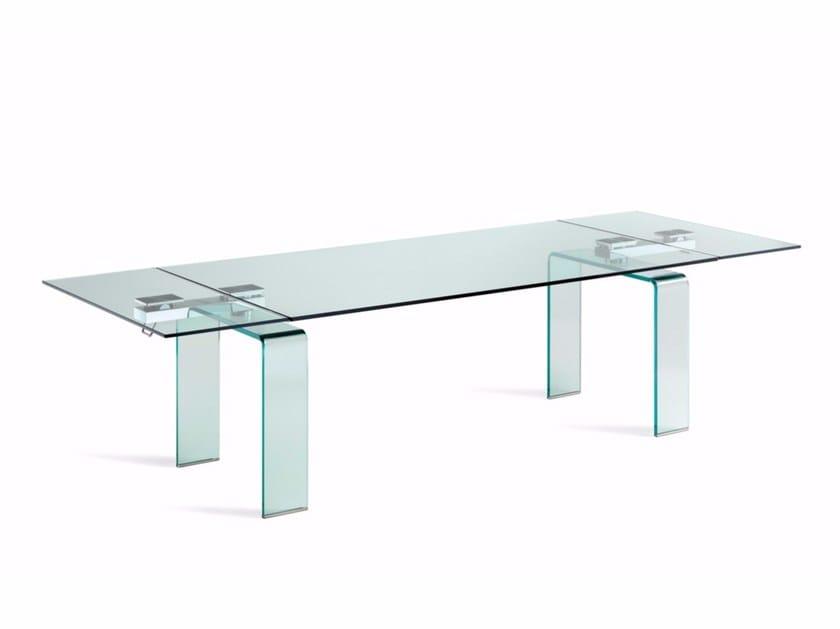 Extending crystal table AZIMUT - Cattelan Italia
