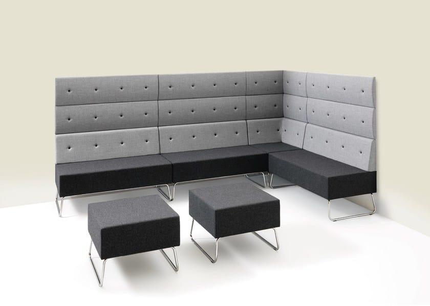 Sectional fabric sofa Abaco+ - Metalmobil