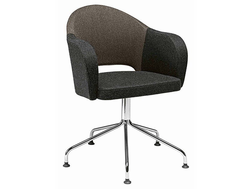 Swivel upholstered easy chair with 5-spoke base Agatha 048-5P - Metalmobil