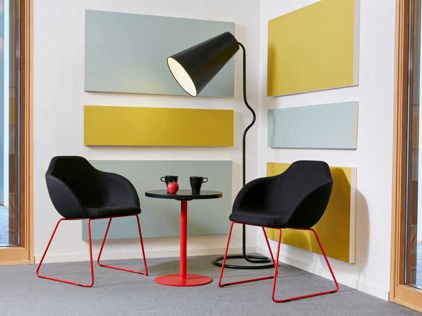 Glass wool decorative acoustical panels Akusto One SQ by Saint-Gobain ECOPHON