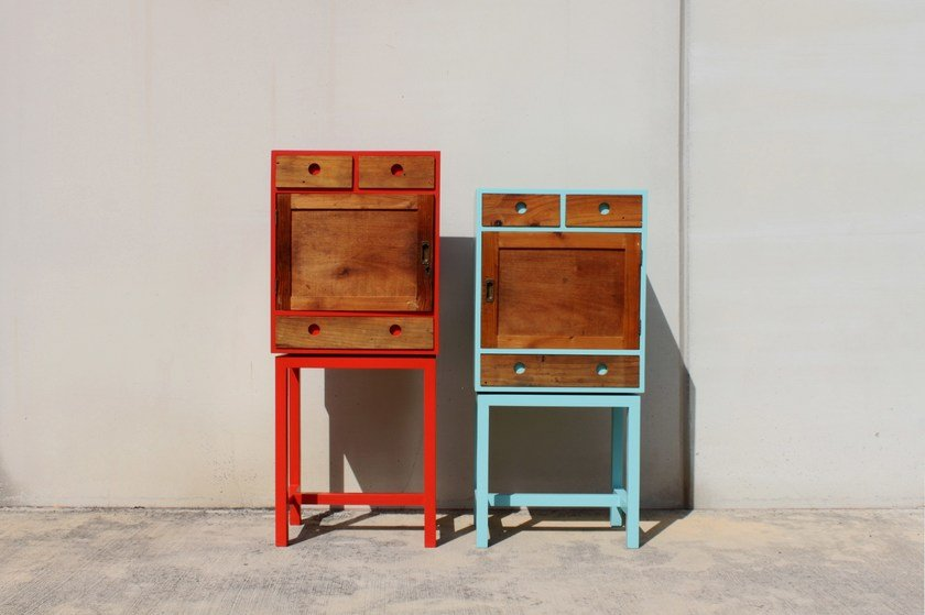 Lacquered wooden highboard ARTHUR & ZOÉ - ICI ET LÀ