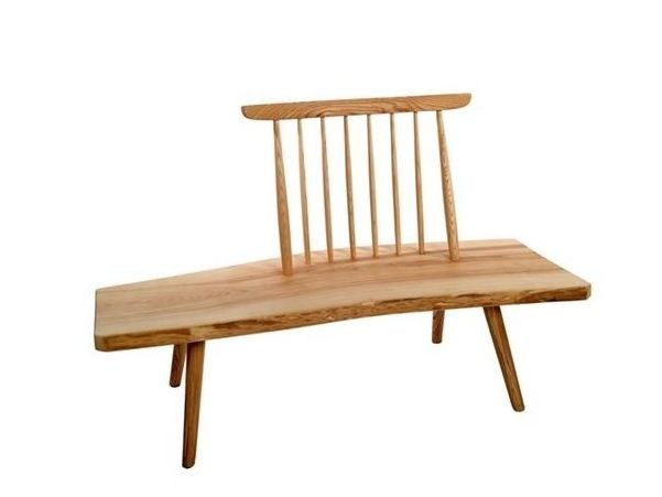 Ash bench with back Ash bench - Pols Potten