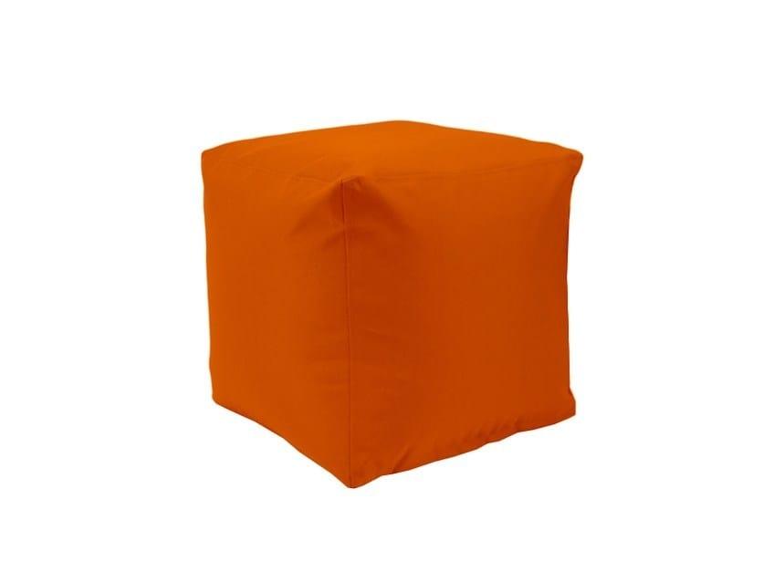 Upholstered fabric pouf B!SQUARE - SMV Sitz- und Objektmöbel