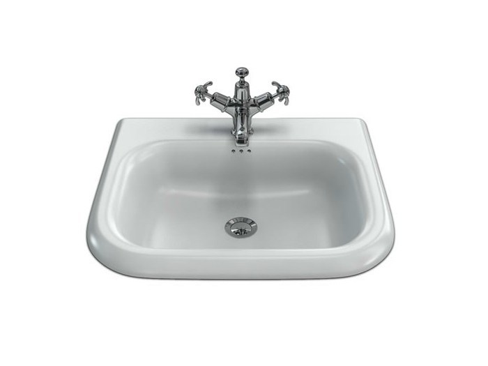 Wall-mounted washbasin with overflow B7E | Rectangular washbasin - Polo