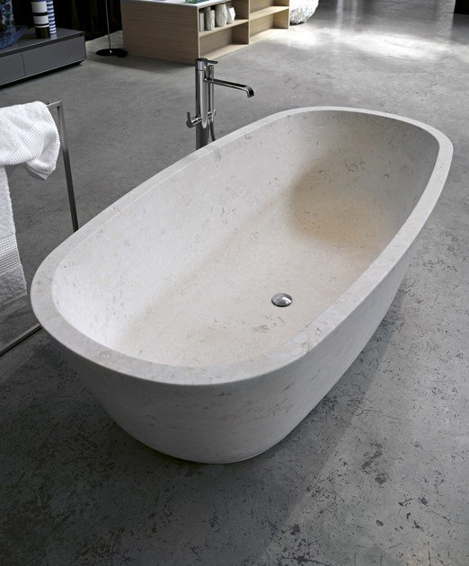 BAÌA  Vasca da bagno in pietra naturale By Antonio Lupi Design® design Carlo...