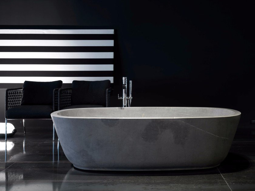 Natural stone bathtub BAÌA | Natural stone bathtub - Antonio Lupi Design®