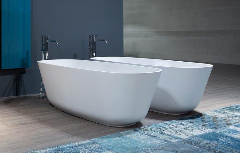 Oval Cristalplant® bathtub BAÌA SMALL - Antonio Lupi Design®