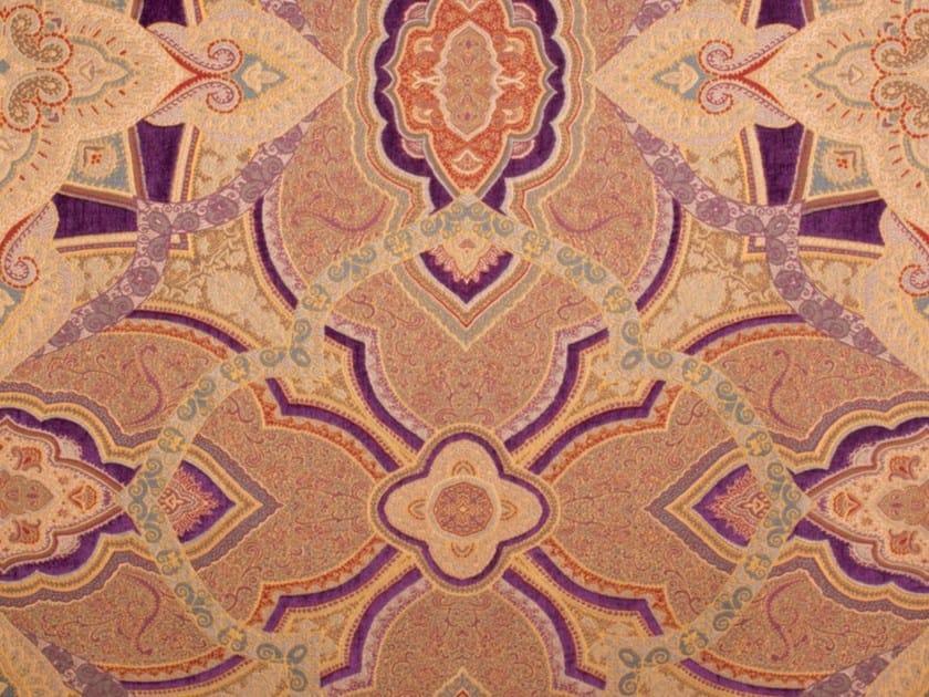 Tessuto damascato in viscosa per tende BABILONIA by Gancedo