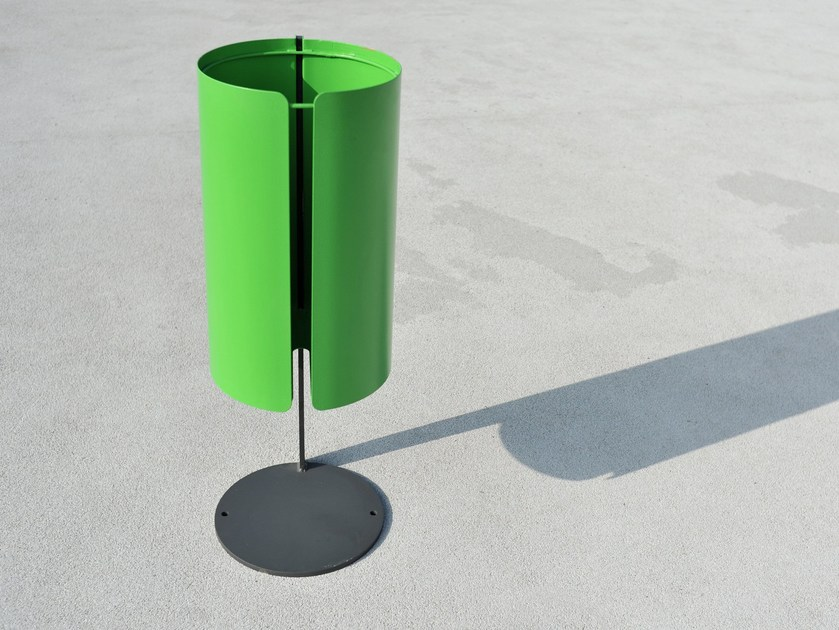 Outdoor steel waste bin BABY HERMAN - LAB23 Gibillero Design Collection