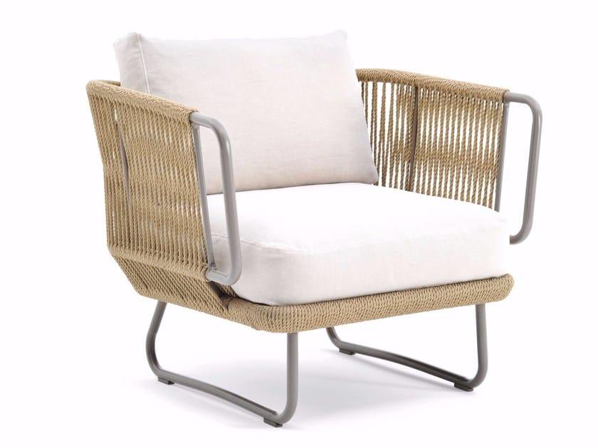 Man-made fibre cord armchair BABYLON | Armchair by Varaschin