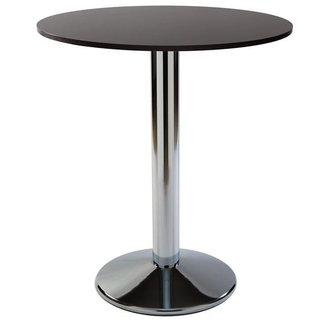 Height-adjustable chrome plated steel contract table BACRO-43 - Vela Arredamenti