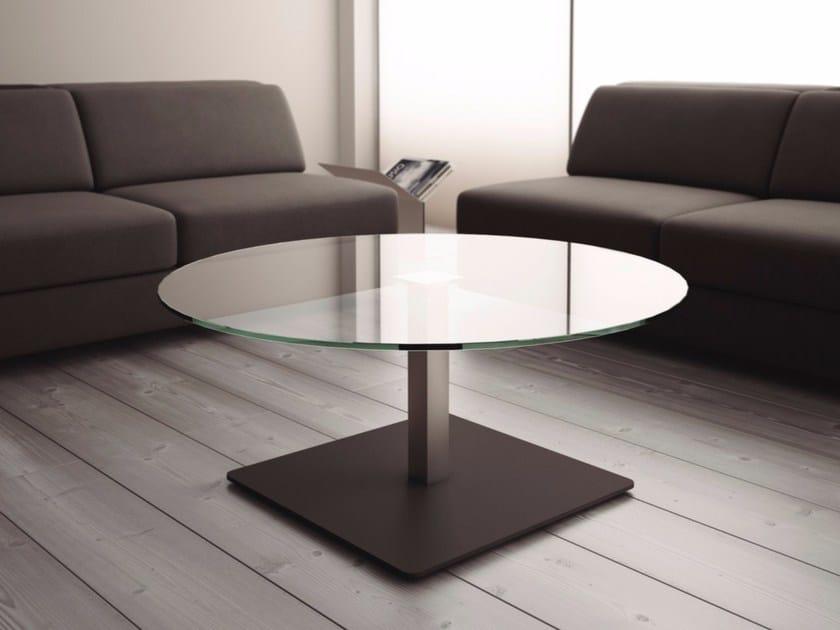 Tavolino rotondo in vetro per contract BADA | Tavolino in vetro - Systemtronic