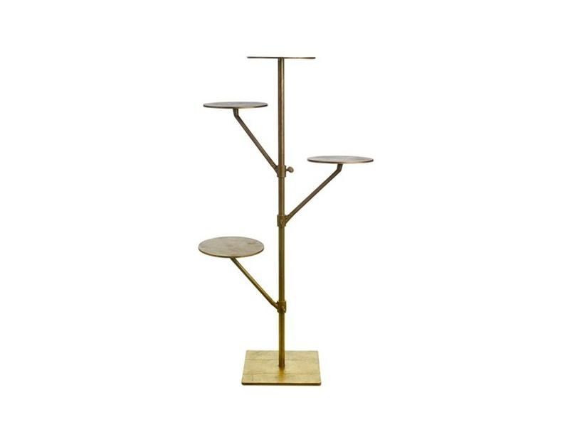 Die cast aluminium side table BAGSTAND SCREW MULTI-ARM - Pols Potten