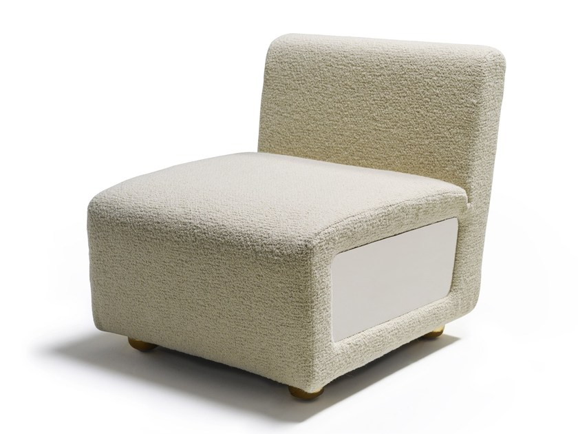 Upholstered fabric armchair BAIA   Armchair by MARIONI