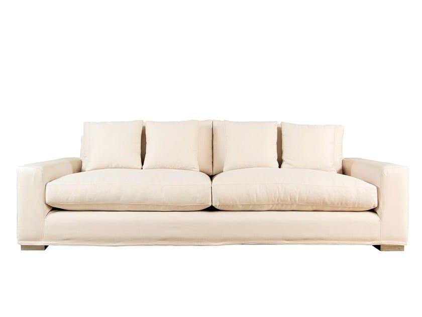 Fabric sofa BAIRRO ALTO - Branco sobre Branco