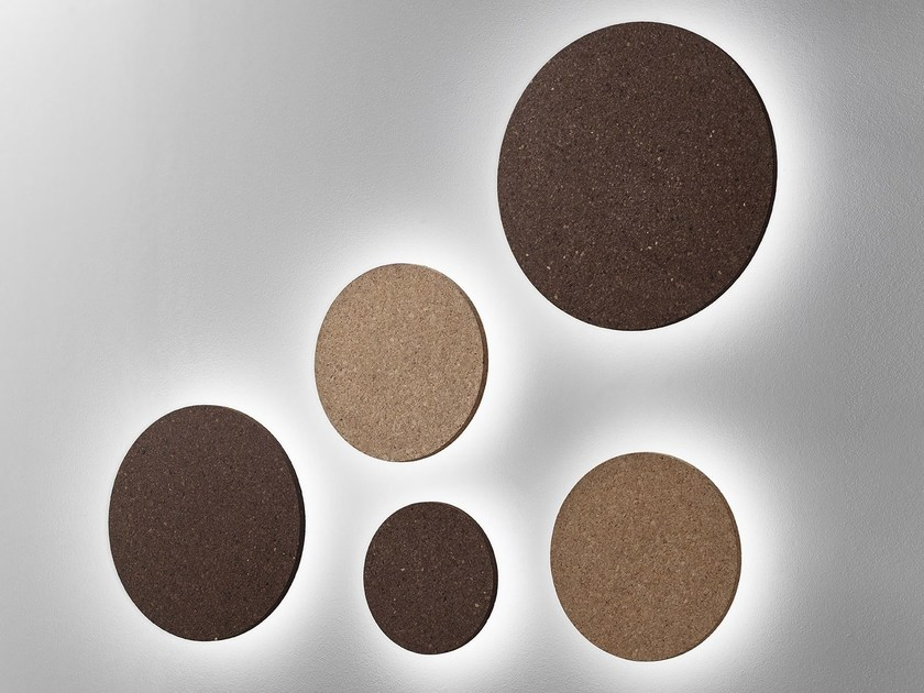 Applique a LED in sughero BALL CORK by Exporlux