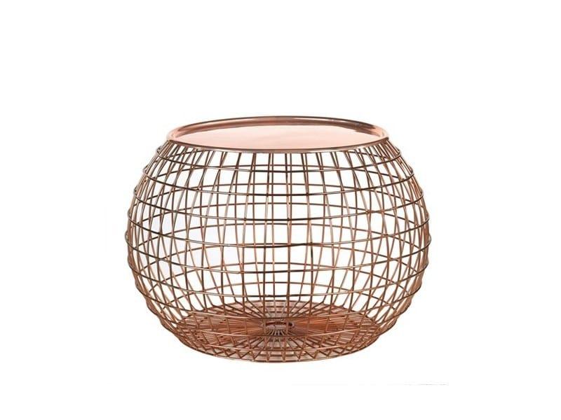 Tavolino da caffè rotondo in metallo BALL WIRE - Pols Potten
