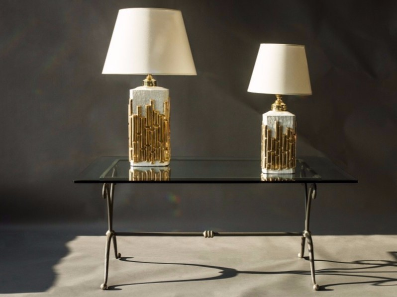 Lampada da tavolo in porcellana BAMBÙ - Luciano Fumagalli Lampadari