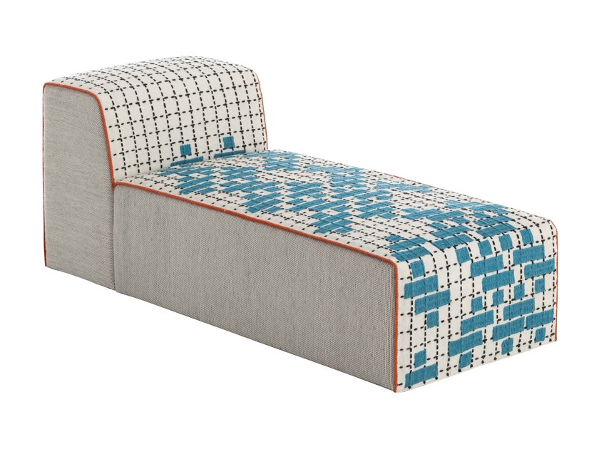 Upholstered fabric lounge chair BANDAS C | Lounge chair by GAN