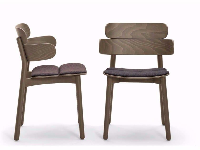 Sedia in legno con braccioli BANDS | Sedia con braccioli by Varaschin