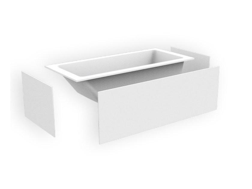 Vasca da bagno rettangolare in Corian® da incasso BANHEIRA SBA - AMA Design