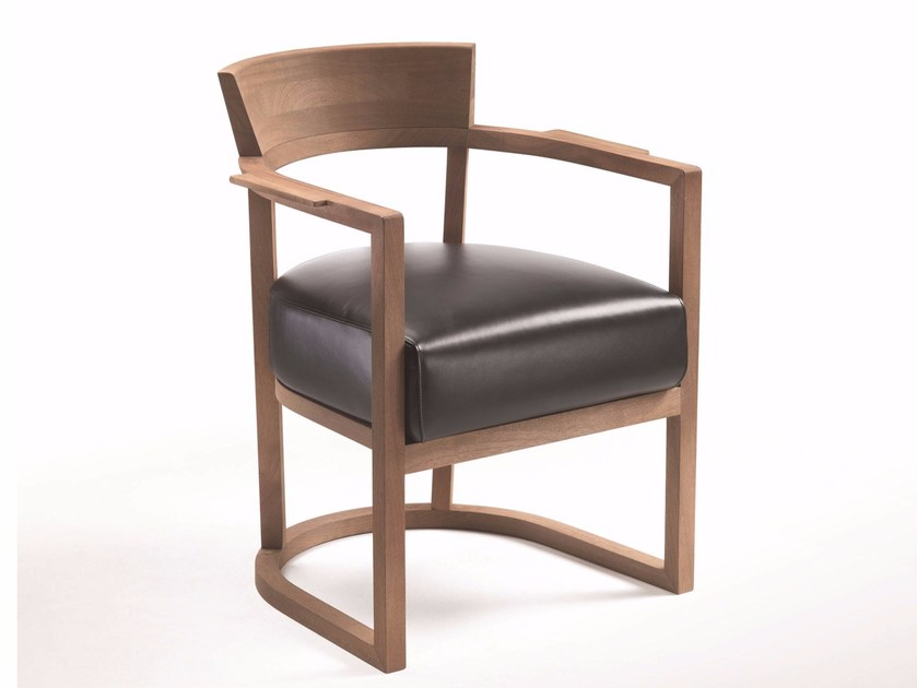 Upholstered chair with armrests BARCHETTA | Chair - FLEXFORM