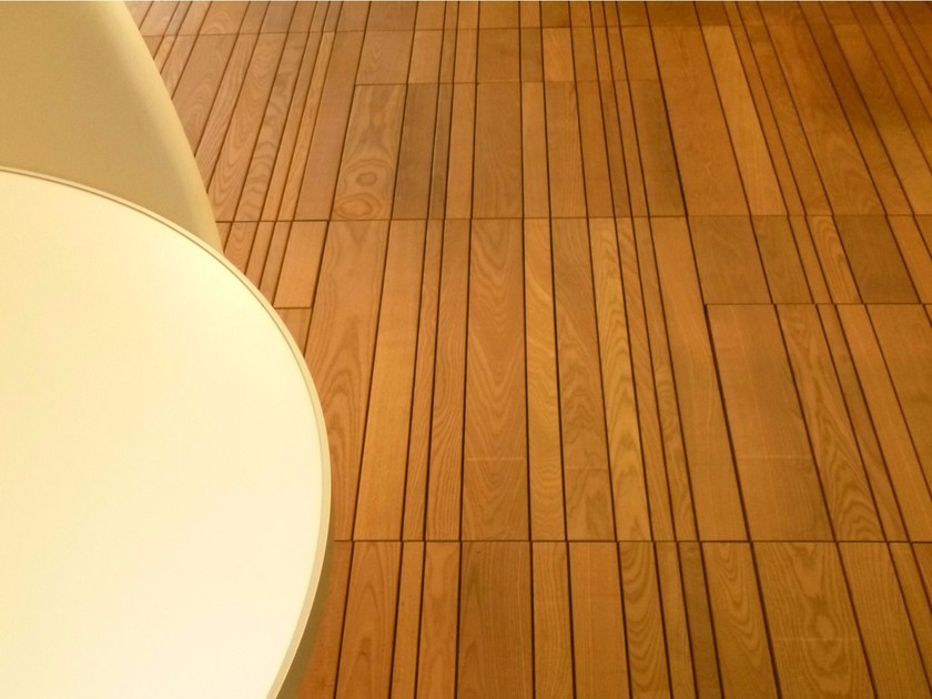 Wooden outdoor floor tiles BARCODE - Bruno Parquet