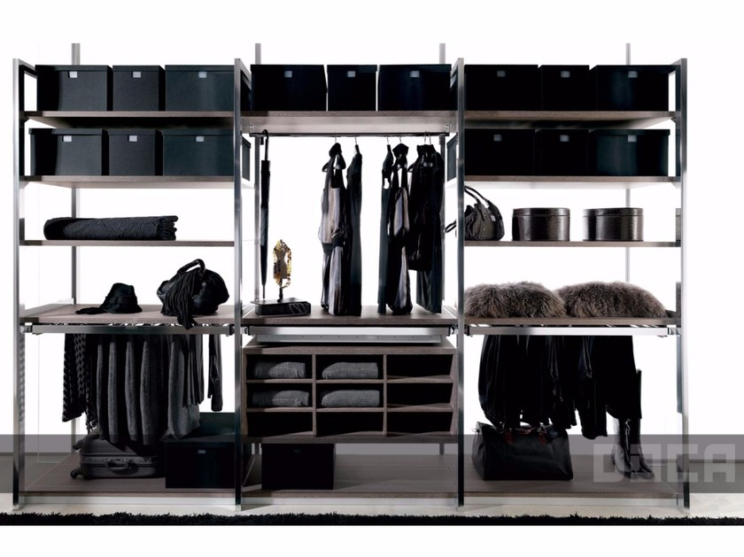 Sectional walk-in wardrobe BARNA TABAC by Doca