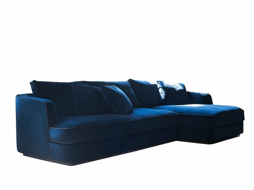 Sectional fabric sofa with chaise longue BARRET | Sofa with chaise longue - FLEXFORM