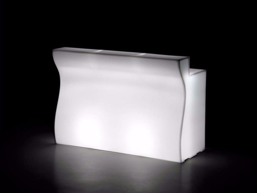 Bancone bar illuminato BARTOLOMEO DESK LIGHT - PLUST Collection by euro3plast