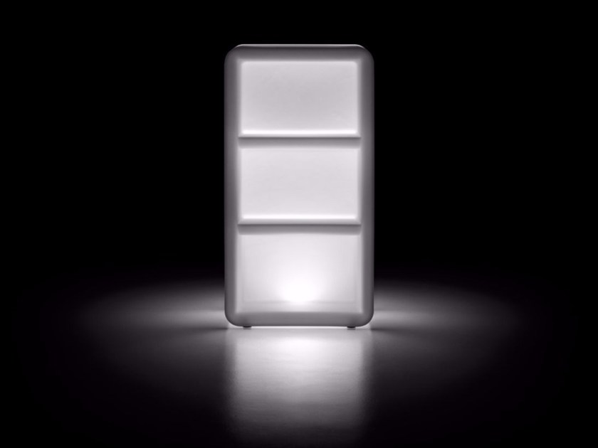 Contemporary style outdoor bar cabinet BARTOLOMEO DISPLAY LIGHT - PLUST Collection by euro3plast