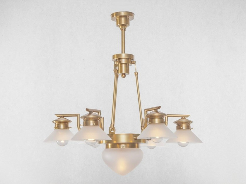 Brass chandelier BASEL | Chandelier - Patinas Lighting