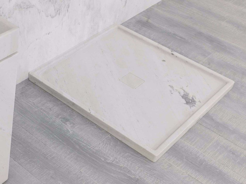 Square natural stone shower tray BASIC - L'Antic Colonial